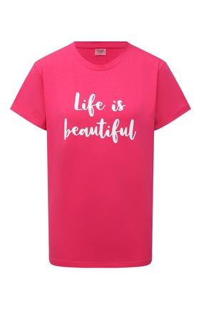 Женская хлопковая футболка SEVEN LAB фуксия цвета, арт. T-LIB G01 fuchsia   Фото 1