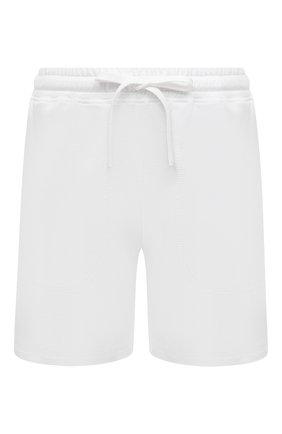 Женские хлопковые шорты EVA B.BITZER белого цвета, арт. 11380245 | Фото 1 (Длина Ж (юбки, платья, шорты): Мини; Женское Кросс-КТ: Домашние шорты; Материал внешний: Хлопок)