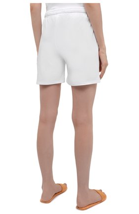 Женские хлопковые шорты EVA B.BITZER белого цвета, арт. 11380245 | Фото 4 (Длина Ж (юбки, платья, шорты): Мини; Женское Кросс-КТ: Домашние шорты; Материал внешний: Хлопок)