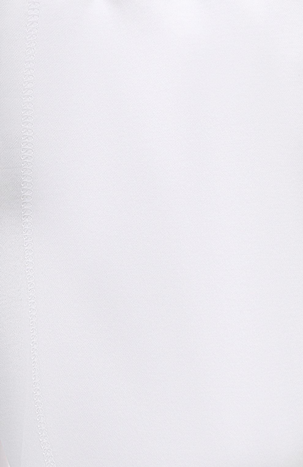 Женские хлопковые шорты EVA B.BITZER белого цвета, арт. 11380245 | Фото 5 (Длина Ж (юбки, платья, шорты): Мини; Женское Кросс-КТ: Домашние шорты; Материал внешний: Хлопок)