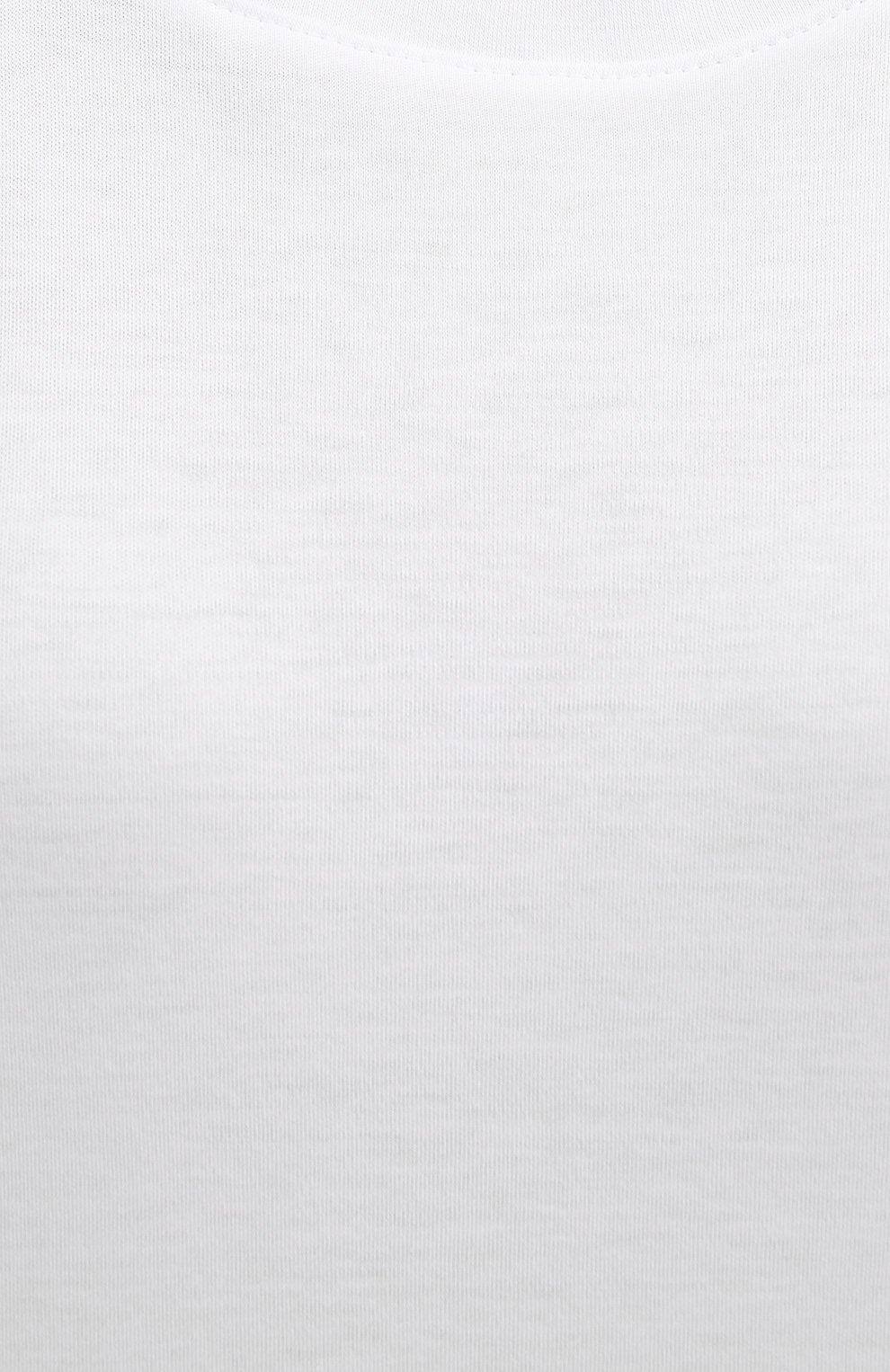 Женская хлопковый топ EVA B.BITZER белого цвета, арт. 11380233 | Фото 5 (Рукава: Короткие; Длина (для топов): Стандартные; Материал внешний: Хлопок; Женское Кросс-КТ: Домашние топы)