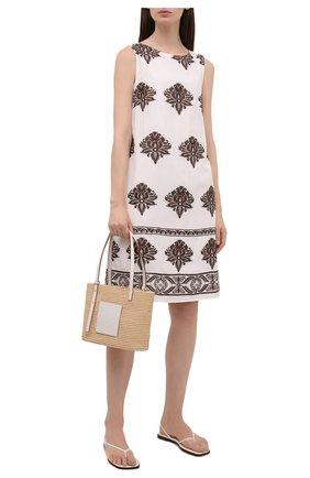 Женское платье из вискозы EVA B.BITZER кремвого цвета, арт. 11313089   Фото 2