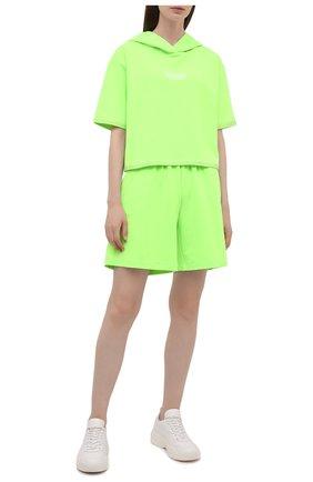 Женский хлопковый костюм SEVEN LAB зеленого цвета, арт. HTS21-D neon green   Фото 1