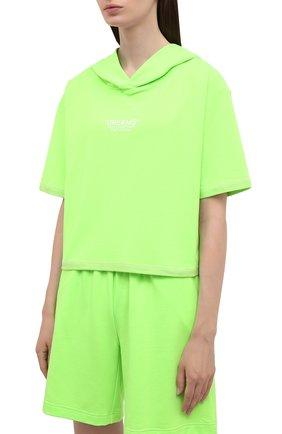 Женский хлопковый костюм SEVEN LAB зеленого цвета, арт. HTS21-D neon green   Фото 2