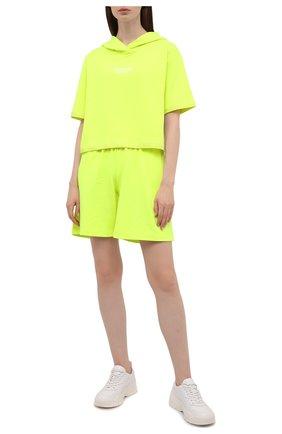 Женский хлопковый костюм SEVEN LAB салатового цвета, арт. HTS-D neon yellow   Фото 1