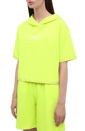 Женский хлопковый костюм SEVEN LAB салатового цвета, арт. HTS-D neon yellow   Фото 2