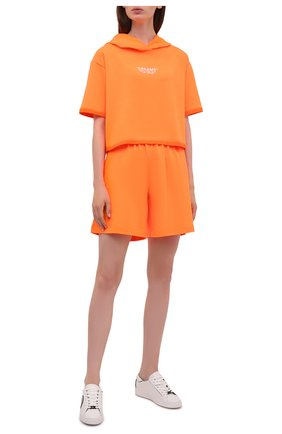 Женский хлопковый костюм SEVEN LAB оранжевого цвета, арт. HTS21-D neon orange   Фото 1