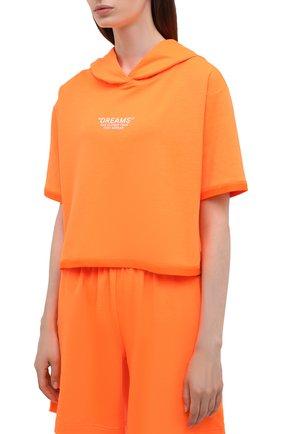 Женский хлопковый костюм SEVEN LAB оранжевого цвета, арт. HTS21-D neon orange   Фото 2