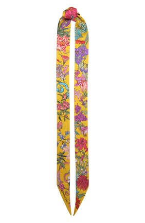 Женский шелковый шарф-бандо 100 flowers RADICAL CHIC желтого цвета, арт. 402675.21.17   Фото 1