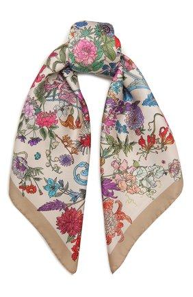 Женский шелковый платок 100 flowers RADICAL CHIC светло-бежевого цвета, арт. 402655.07.01   Фото 1