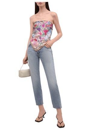Женский шелковый платок 100 flowers RADICAL CHIC светло-бежевого цвета, арт. 402655.07.01   Фото 2