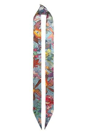 Женский шелковый шарф-бандо orchid's trip to moscow RADICAL CHIC голубого цвета, арт. 250970.21.17 | Фото 1