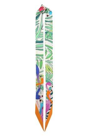Женский шелковый шарф-бандо flamingo RADICAL CHIC зеленого цвета, арт. 163153.21.17   Фото 1
