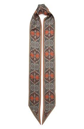 Женский шелковый шарф-бандо saffron RADICAL CHIC темно-бежевого цвета, арт. 201524.21.22   Фото 1