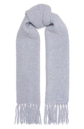 Женский шерстяной шарф GIORGIO ARMANI серо-голубого цвета, арт. 795008/1A147 | Фото 1