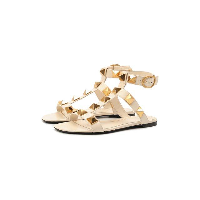 Кожаные сандалии Roman Stud Valentino