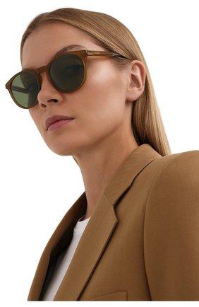 Женские солнцезащитные очки LORO PIANA светло-коричневого цвета, арт. FAL0261   Фото 2