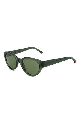 Женские солнцезащитные очки LORO PIANA темно-зеленого цвета, арт. FAL4776 | Фото 1 (Тип очков: С/з; Очки форма: Овальные)