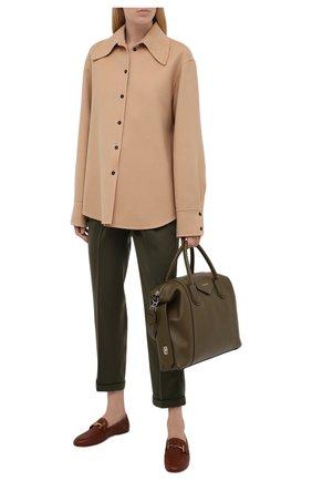 Женские кожаные лоферы TOD'S коричневого цвета, арт. XXW79A0DE70ZEF | Фото 2