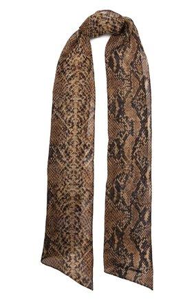 Женский шелковый шарф RALPH LAUREN коричневого цвета, арт. 434867920 | Фото 1