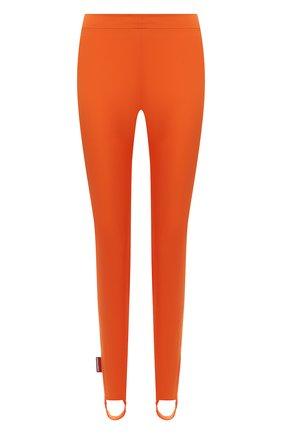 Женские леггинсы со штрипками DSQUARED2 оранжевого цвета, арт. S72KA1094/S54164   Фото 1