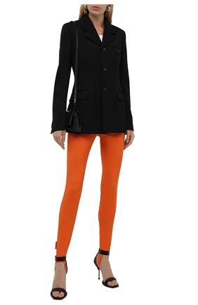 Женские леггинсы со штрипками DSQUARED2 оранжевого цвета, арт. S72KA1094/S54164   Фото 2