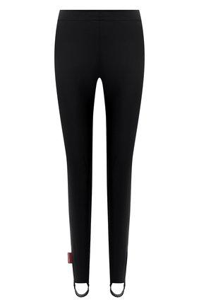 Женские леггинсы со штрипками DSQUARED2 черного цвета, арт. S72KA1094/S54164   Фото 1