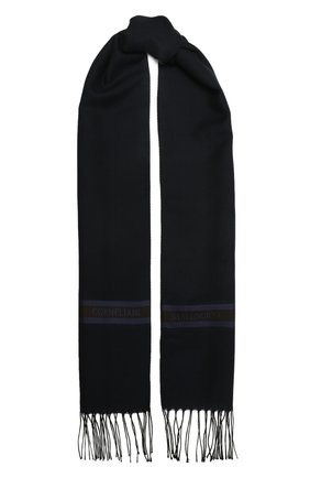 Мужской шарф из шерсти и шелка CORNELIANI темно-синего цвета, арт. 88B131-1829054/00   Фото 1