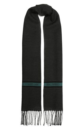 Мужской шарф из шерсти и шелка CORNELIANI темно-серого цвета, арт. 88B131-1829054/00   Фото 1