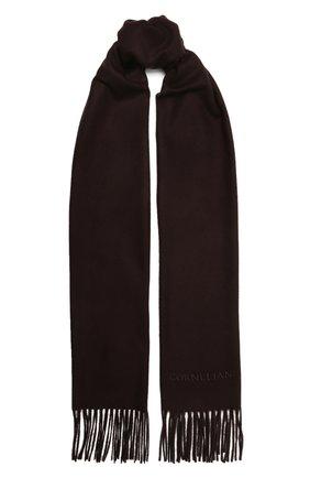 Мужской кашемировый шарф CORNELIANI темно-бордового цвета, арт. 88B275-1829016/00   Фото 1