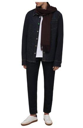 Мужской кашемировый шарф CORNELIANI темно-бордового цвета, арт. 88B275-1829016/00   Фото 2