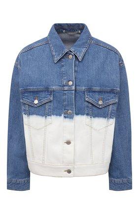 Женская джинсовая куртка STELLA MCCARTNEY голубого цвета, арт. 603705/S0H45 | Фото 1 (Длина (верхняя одежда): Короткие; Рукава: Длинные; Материал внешний: Хлопок; Стили: Спорт-шик; Кросс-КТ: Деним, Куртка)