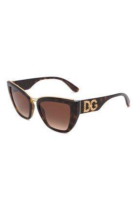 Женские солнцезащитные очки DOLCE & GABBANA коричневого цвета, арт. 6144-502/13   Фото 1