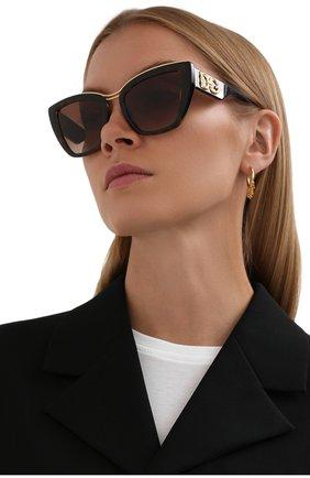 Женские солнцезащитные очки DOLCE & GABBANA коричневого цвета, арт. 6144-502/13   Фото 2