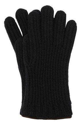 Мужские кашемировые перчатки LORO PIANA темно-синего цвета, арт. FAI4645 | Фото 1 (Материал: Шерсть, Кашемир; Кросс-КТ: Трикотаж)