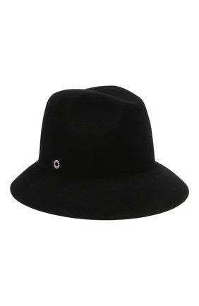 Женская фетровая шляпа ingrid LORO PIANA черного цвета, арт. FAL3434 | Фото 1 (Материал: Шерсть)