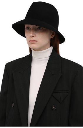 Женская фетровая шляпа ingrid LORO PIANA черного цвета, арт. FAL3434 | Фото 2 (Материал: Шерсть)