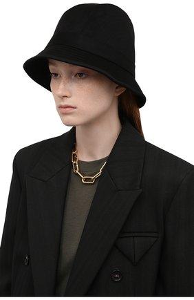 Женская кашемировая шляпа LORO PIANA черного цвета, арт. FAL2348 | Фото 2 (Материал: Кашемир, Шерсть)