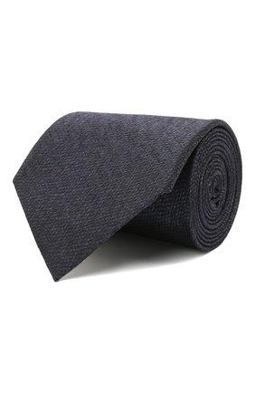 Мужской шелковый галстук ERMENEGILDO ZEGNA темно-синего цвета, арт. Z2D20T/1XW | Фото 1 (Материал: Шелк, Текстиль; Принт: Без принта)