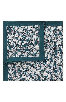 Мужской шелковый платок ETON бирюзового цвета, арт. A000 33117   Фото 1
