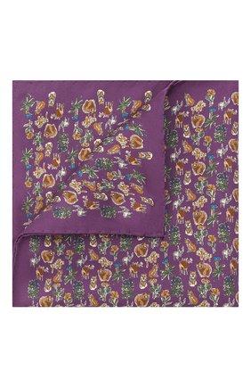 Мужской шелковый платок ETON фиолетового цвета, арт. A000 33121   Фото 1