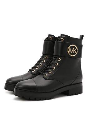 Женские кожаные ботинки tatum MICHAEL MICHAEL KORS черного цвета, арт. 40F0TAFB5L | Фото 1
