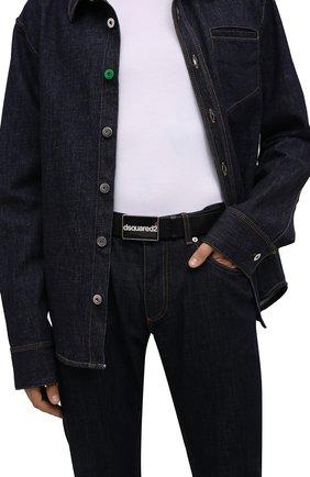 Мужской кожаный ремень DSQUARED2 черного цвета, арт. BEM0395 12900001 | Фото 2