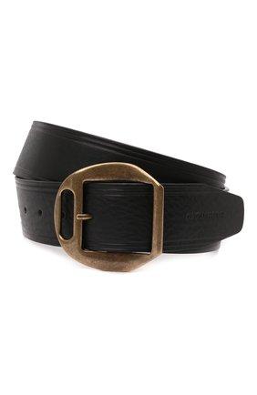 Мужской кожаный ремень DSQUARED2 черного цвета, арт. BEM0366 12900001 | Фото 1