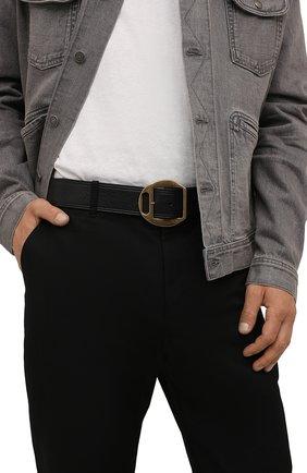 Мужской кожаный ремень DSQUARED2 черного цвета, арт. BEM0366 12900001 | Фото 2
