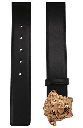 Мужской кожаный ремень VERSACE черного цвета, арт. 1001340/DVTP1 | Фото 3 (Случай: Повседневный)