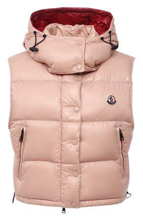 Женский пуховый жилет alpiste MONCLER розового цвета, арт. G2-093-1A000-57-68950 | Фото 1 (Материал подклада: Синтетический материал; Длина (верхняя одежда): Короткие; Материал внешний: Синтетический материал; Материал утеплителя: Пух и перо; Стили: Спорт-шик; Женское Кросс-КТ: Жилет-одежда; Кросс-КТ: Пуховик)