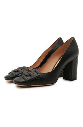 Женские кожаные туфли pinkie 85 BALLY черного цвета, арт. PINKIE 85/200 | Фото 1