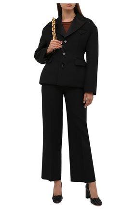 Женские кожаные туфли pinkie 85 BALLY черного цвета, арт. PINKIE 85/200 | Фото 2
