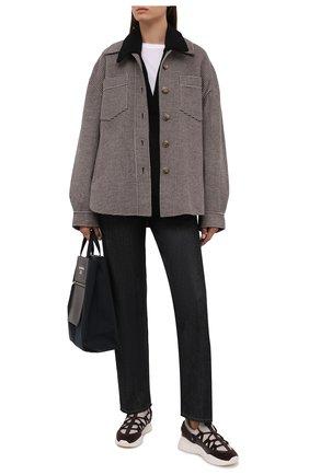 Женские комбинированные кроссовки bienne BALLY коричневого цвета, арт. BR0GAN-T-W/20 | Фото 2